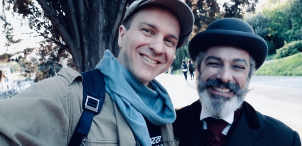 Con Georges Méliès, alias Max Zanuzzi